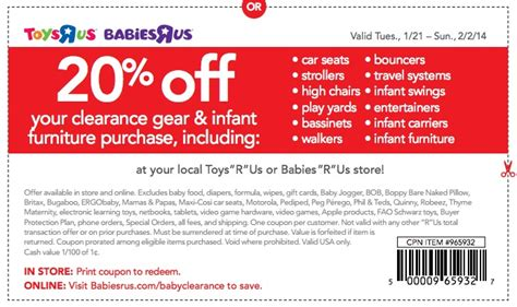 Babies R Us Crib Coupons Babies Quot R Quot Us 20 Your Clearance Purchase Baby Gear Furniture And More The Savvy Bump