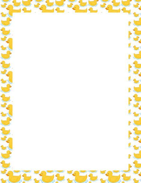 a page border featuring cute cartoon ducks free downloads