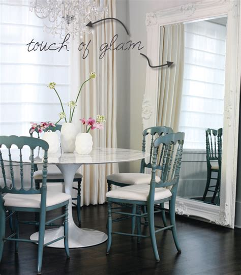 Modern Mirrors For Dining Room Dash Of Modern Pinch Of Traditional Interior Design
