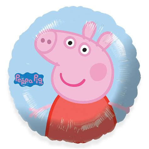 Peppa pig 45cm foil balloon film amp book character foil balloons party ark
