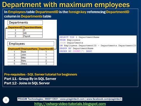 sql query basics tutorial sql server net and c video tutorial part 8 sql query