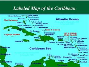 show me the map of show me a map of the caribbean my