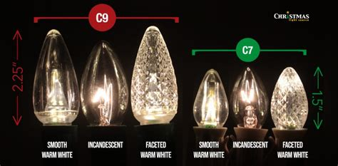 difference between c9 c7 and c6 lights c7 and c9 bulbs and cords light source
