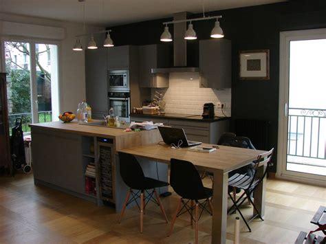 cuisine parall鑞e avec ilot awesome cuisine parallele avec ilot gallery design