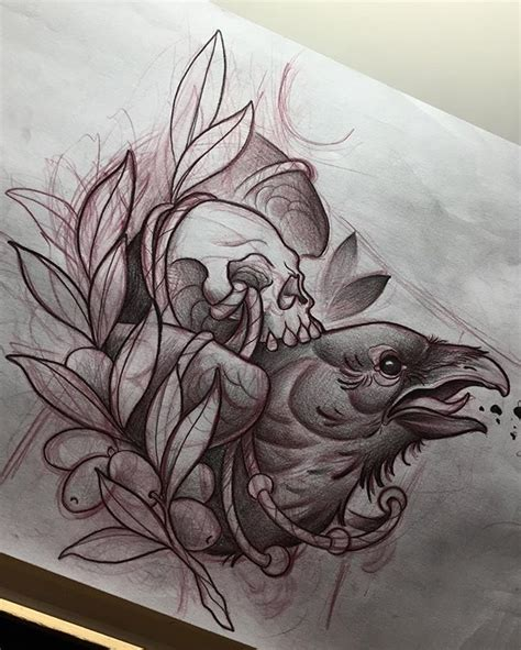 tattoo flash ravens but with roadrunner cool artwork pinterest crows