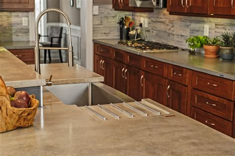 Concrete Kitchen Countertop Ideas by Awe Inspiring Concrete Countertops Decorating Ideas