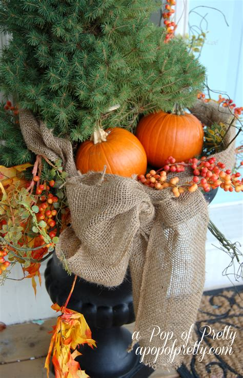 outdoor fall decorating  pop  pretty blog canadian