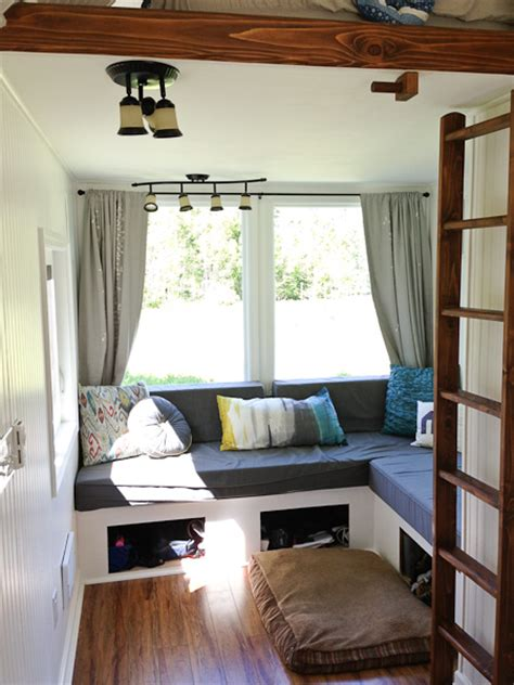 tiny house living room gling tiny house interior would you live here