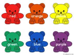 bears colors rainbow colors printable learning color activities