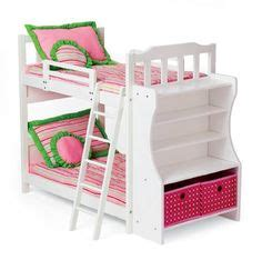 Doll Bunk Beds With Ladder And Storage Armoire by Badger Basket Doll Bunk Bed With Ladder And Armoire Fits