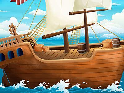 pirate ship background  nicoletta azzolini dribbble