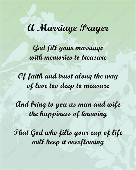pick a poem for bride and groom   Marriage Prayer Poem