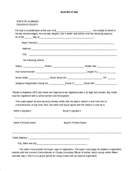 boat bill of sale simple sle boat bill of sale form 6 free documents in word pdf