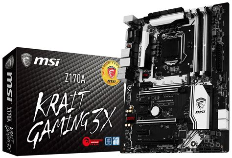 Msi Z170a Krait Gaming msi launches z170a krait gaming 3x premium motherboard