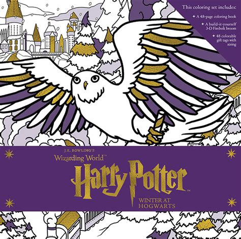 harry potter coloring book goodreads winter at hogwarts a magical coloring set is a and