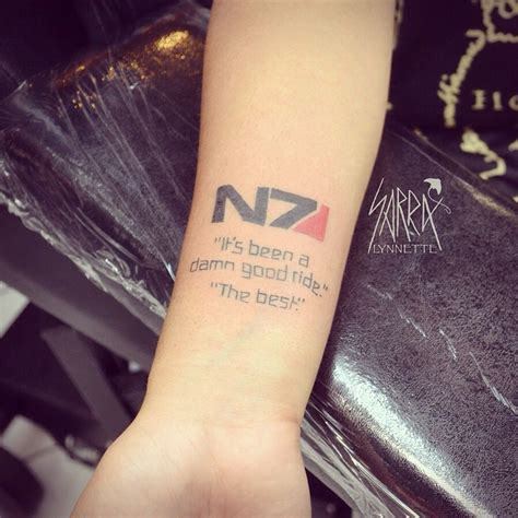 tattoos games mass effect quote by sarra lynnette at