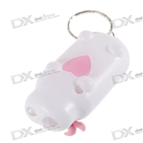 cow keychain led light cute cow 2 led flashlight keychain batteries included