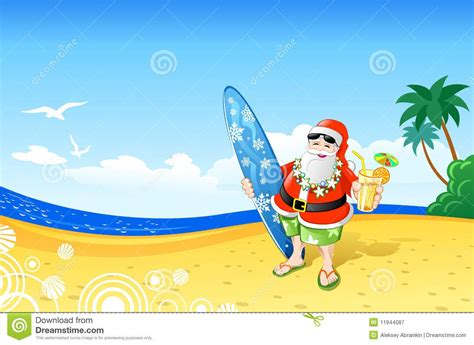 hawaiian santa claus hawaiian santa claus clip art santa stock illustrations vectors