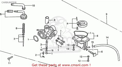 honda z50j1 monkey australia carburetor schematic partsfiche
