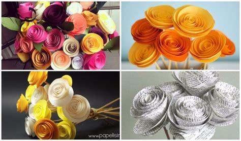confeccion de flores de papel pediodico flores de papel v 237 deo tutorial manualidades
