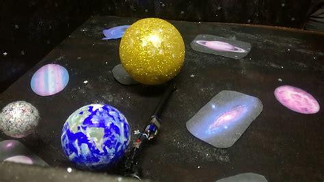 como hacer una maqueta del ecplise solar y lunar maqueta del sol luna y tierra cobaep p 13 youtube