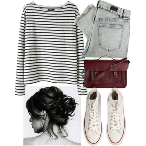 Dress Kode 062 chic but lazy day ensemble stripes paired with denim
