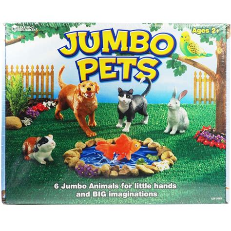 Pet Jumbo 75 X 75 jumbo pets 6 pc animal figurines playset educational