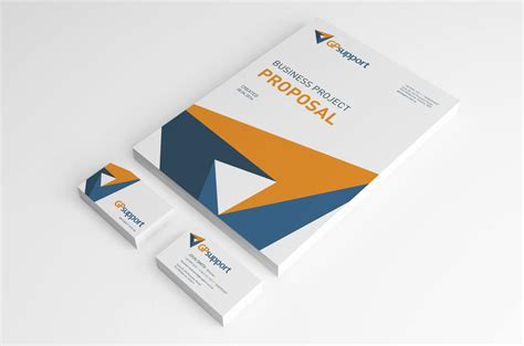 proposal cover design inspiration serious professional stationery design for gpsupport by