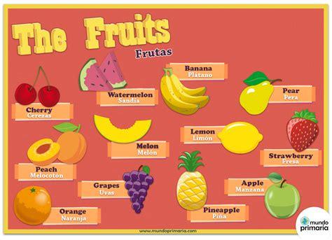 imagenes en ingles frutas infograf 237 a de las frutas en ingl 233 s para ni 241 os