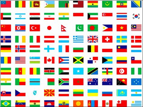 Flags Of The World Countries Printable With Names | world flags with names printable fqxht best of of african
