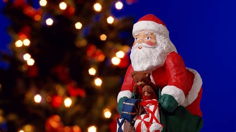 santa claus ornaments wallpaper