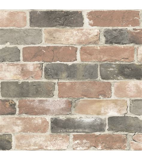 where to buy peel and stick wallpaper wallpops 174 nuwallpaper peel and stick wallpaper newport reclaimed brick joann jo ann