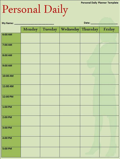 daily task calendar template doc 1075665 free daily schedule templates for excel