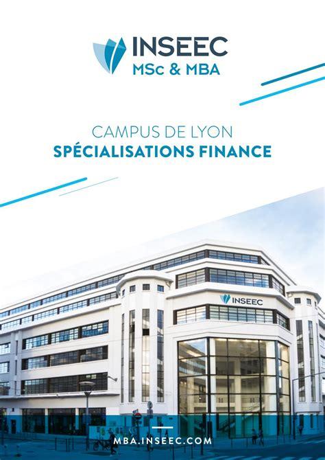 Mba Et Msc Tourism Management De L Esc La Rochelle by Brochure Finance Inseec Msc Mba Lyon By Inseec Issuu