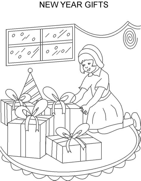 new year coloring pages pdf new year gifts printable coloring page