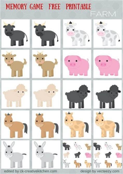 printable toddler matching games animals memory game free printables preschool