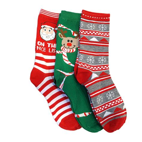 christmas sock 3 pairs refael collection christmas style socks size 9