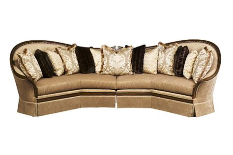 wooden sectional sofa luna exposed solid wood frame sectional sofa with pillows
