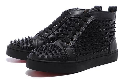 mens all black sneakers all black christian louboutin mens sneakers