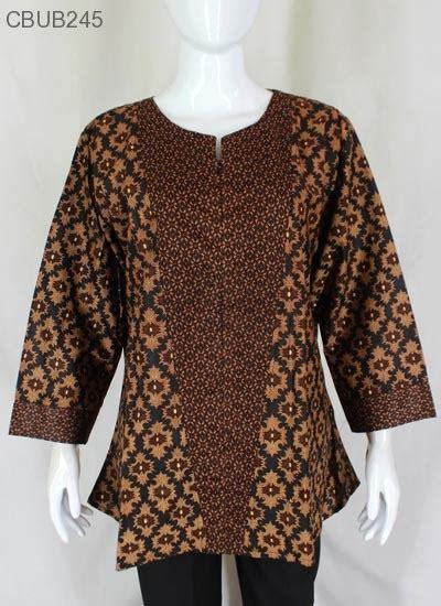 Jumbo Atasan Lengan Panjang Batik Wanita Murah blus panjang jumbo motif cappucino blus lengan panjang murah batikunik