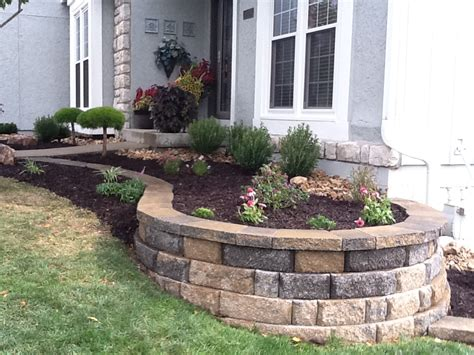 Incorporate The Natural Landscape Of Your Home Adjust To Front Garden Retaining Walls