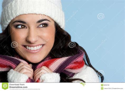 imagenes de invierno con personas persona bonita del invierno foto de archivo libre de
