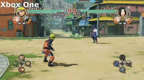 naruto shippuden ultimate ninja storm trilogy switch  xbox  comparison