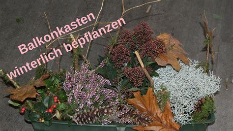 Winterdeko Balkon by Diy Winterdeko F 252 R Draussen Balkonkasten Bepflanzen