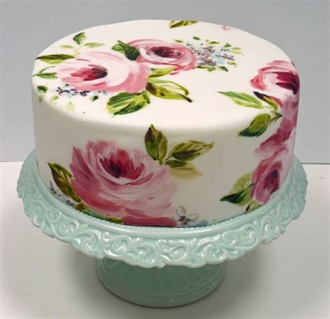 cake painting cocorosecouture watercolor cake