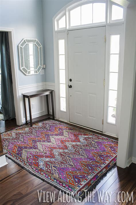 foyer rugs entryway rug size room ornament