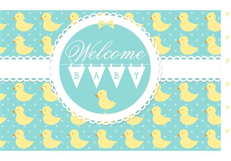 Baby Born Shower Bath free vector welcome baby card download free vector art