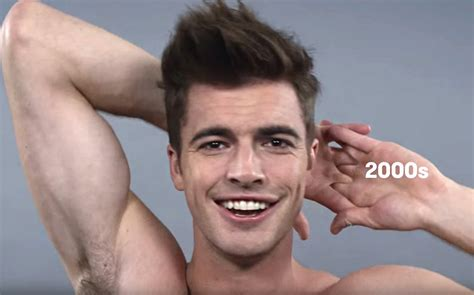 guys hairstyles through the years 100 years of men s hairstyles gay times
