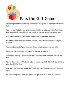pass the present poem game heidi s babyshower