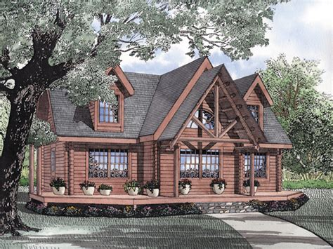 Rustic Lake Cabin Plans by Snow Lake Rustic Log Cabin Home Plan 073d 0056 House